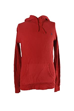 Polo Ralph Lauren Mens Waffle Knit Hoodie Red X Small At Amazon