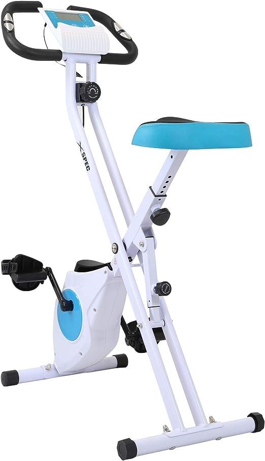 Xspec Plegable Bicicleta estacionaria Ejercicio Vertical Cardio ...