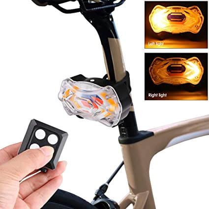 Bicycle Bike Rear LED Tail Light Wireless USB Remote Control Turn Signals Light
