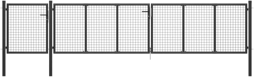 400 x 175 cm, Anthrazit UnfadeMemory Gartentor Stahl Gartent/ür Gartenpforte Garten-Zauntor Maschenweite 5 x 5 cm Einfahrtstor f/ür Zaun um Ihren Garten oder Terrasse