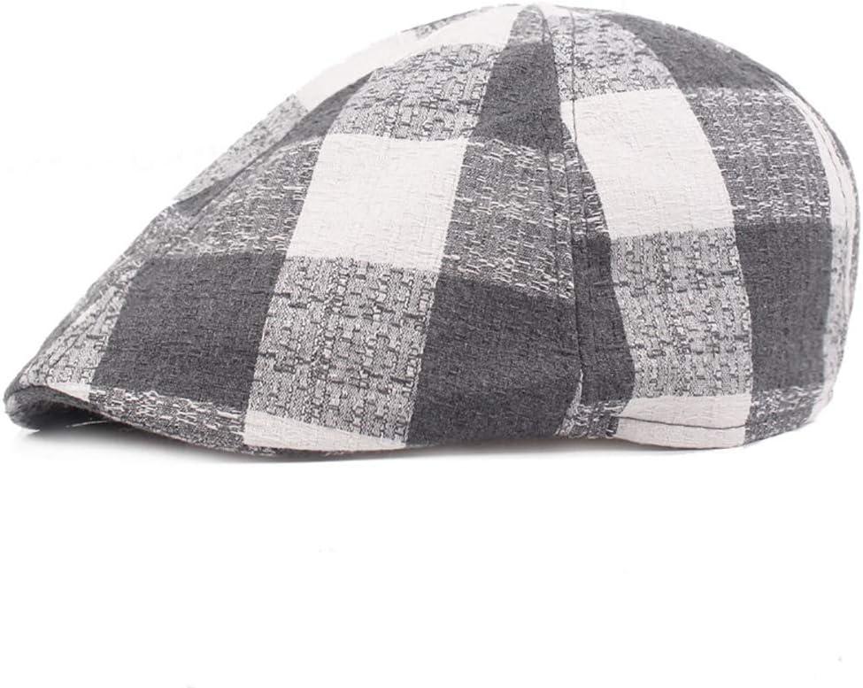 L.W.SURL Hombres Gorra Plana Quilted Peaked Duckbill Vendedor de peri/ódicos Gatsby Irish Hat 56-58cm Sombrero de Caza Color : 2, Size : Free Size