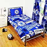 Chelsea FC Childrens/Kids Official Patch Football Crest Duvet Set (Twin Bed) (Blue)