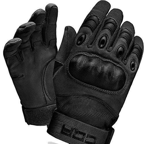 CQ-TZG01-BLK_X-Large CQR Tactical Gloves EDC Outdoor Airsoft Shooting Motorcycle 100% Full Refund TZG01
