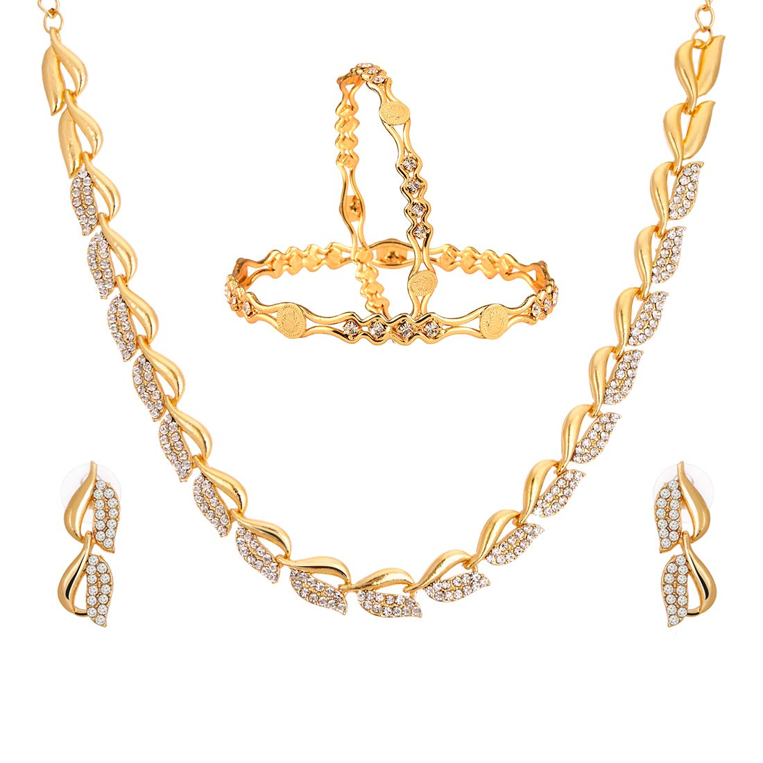 Buy Zeneme Fashion Jewellery American Diamond Designer Gold Plated