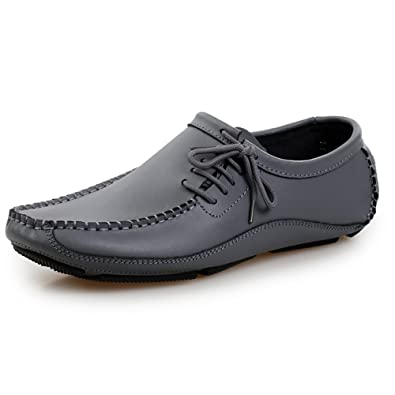 Ceyue New Designer Brand Genuine Leather Men's Suede Flats-Grey-7