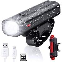 WZTO Luz Bicicleta, 400 Lumens Luz Delantera de Leds Linterna Bicicleta Impermeable con 4 Modos Batería Recargable