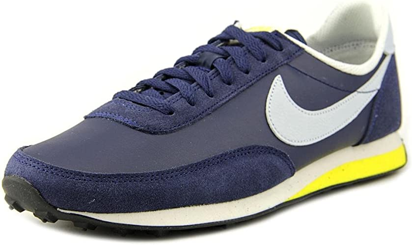 Nike Elite Leather SI Chaussures Sneakers Homme Cuir Suede Bleu