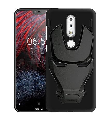 new arrival 862f7 2d9a1 Unisell Nokia 6.1 Plus 3D Feel Marvel Avengers Logo: Amazon.in ...