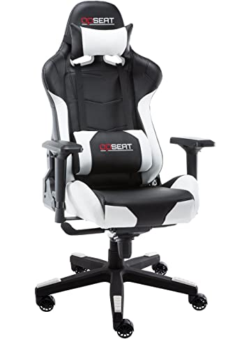 OPSEAT Master Series PC Gaming Chair Racing Seat Computer Gaming Desk Office Chair - White