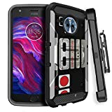 MINITURTLE Case Compatible w/ Rugged Moto X4 2017 MAX GUARD Phone Case [Carbon Fiber MINITURTLE Rugged Clip Case for Motorola Moto X4 ] Rotating BeltClip Holster & Locking Stand Design Game Controller Review