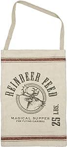 Primitives by Kathy Vintage Sack Style Hanging Bag, Reindeer Feed