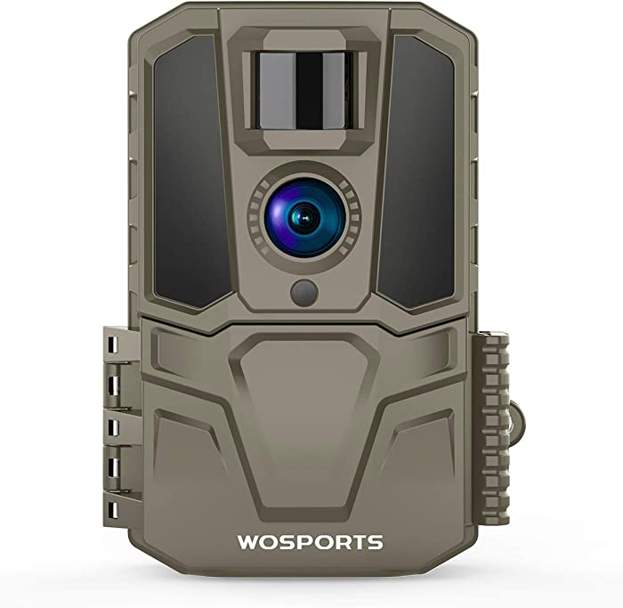 Trail Camera 30MP 1440P FHD 120°Wide Angle Lens Hunting Game Camera with IR Night Vision Motion Activated for Outdoor Wildlife Monitoring Home Security