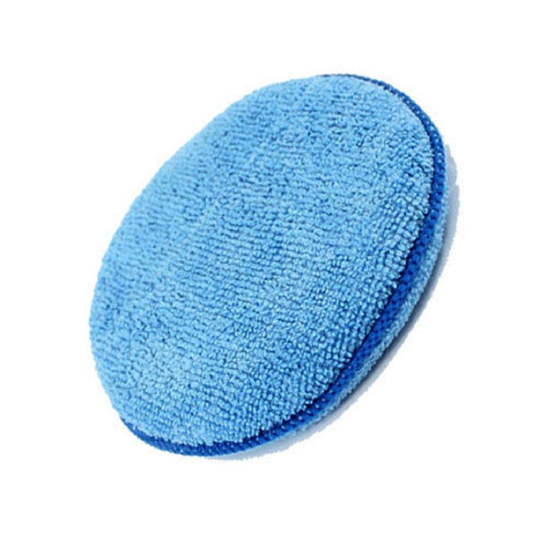 Huphoon Blue 2pcs Portable and Compact Microfibre Foam Sponge Polish Wax Applicator Pads Car Home Cleaning car,Home & Boat Best polishing Action Vehicle 13025mm/5.120.98inch