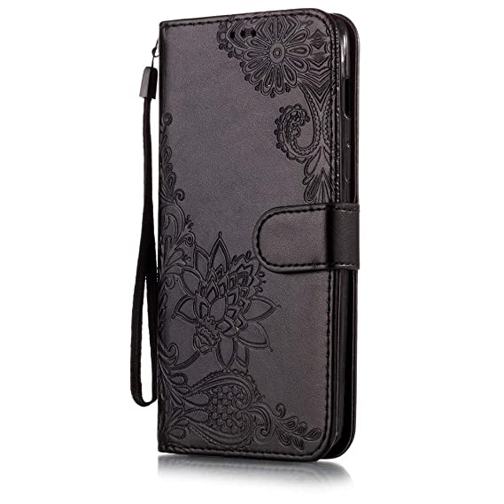 buy popular 8d9f9 7f0e4 IVY Moto Z3 Play Wallet Cases [3D Lotus] PU Leather Cover Wallet Phone Case  for Motorola Moto Z3 Play - Black
