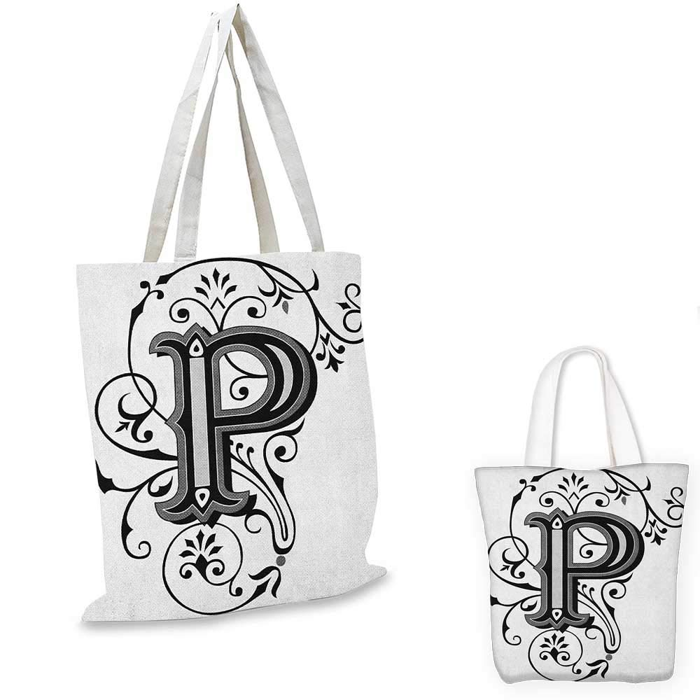 Letter P canvas messenger bag P Symbol Embers on Blazing ABC Font Design Tainted Background Illustration canvas beach bag Tan Black Yellow 12x15-10