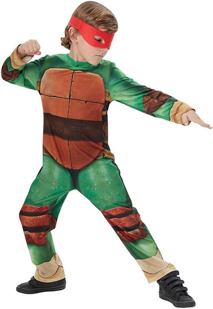 Disfraz de Tortuga Ninja para niños, talla infantil 5-6 años (Rubie's 610525-M)