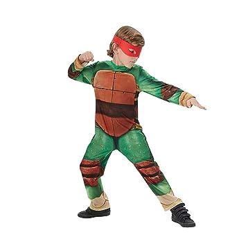 Disfraz de Tortuga Ninja para niños, talla infantil 5-6 años (Rubies 610525-M)