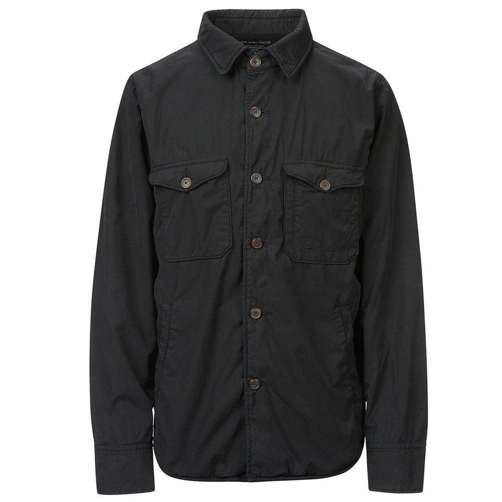 Save Khaki Men's Fleece Lined Trench Jacket SK856 Black SZ L