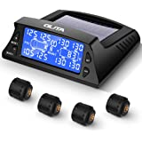 with 4 External Tpms Sensor Solar Charge Carbon Fiber Appearance STEEL MATE Tire Pressure Monitoring System for RV Car Auto Backlight /& Sleep /& Awake Mode