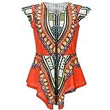 Bodycon4U Women Bohemian Ribbon African Print Ethnic Style Summer Shirts Blouse Tunic Top