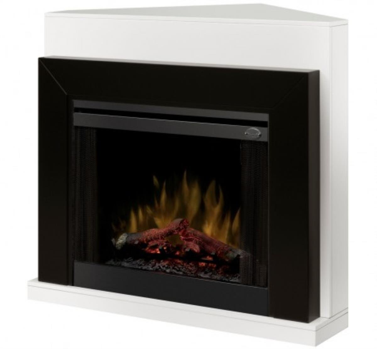 Amazon.com: Dimplex Ebony Covertable Corner Electric Fireplace Black/White: Home & Kitchen