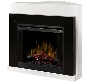 Amazoncom Dimplex Ebony Covertable Corner Electric Fireplace