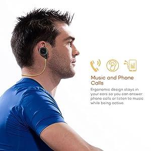 TaoTronics Bluetooth Headphones Wireless Earbuds TT-BH06