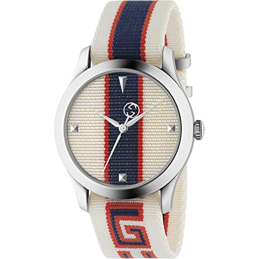 Reloj Gucci G-Timeless 38 mm Caja de Acero CINT Tela YA1264071: Amazon.es: Relojes