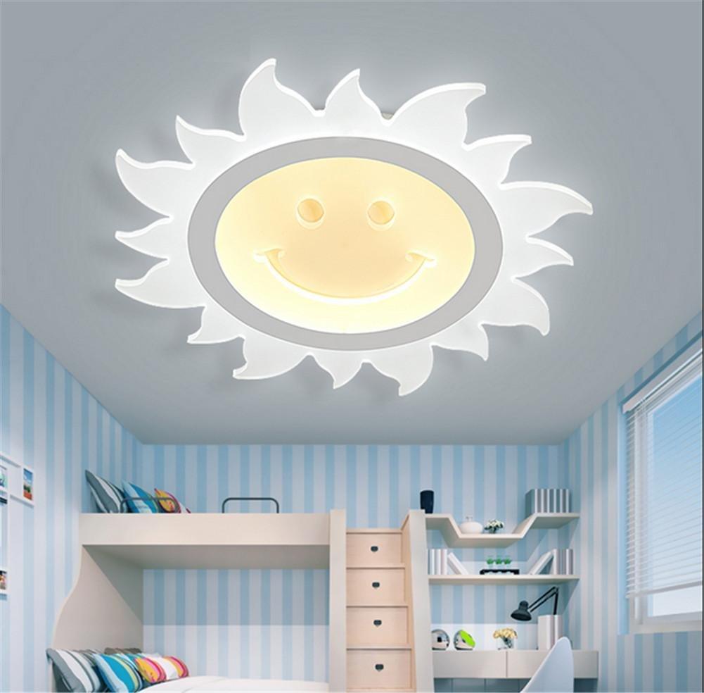 DMMSS Children'S Lights Bedroom Children'S Eyes Children'S Room Led Sunshine Girl Smiling Cute Creative Cartoon Ceiling Light
