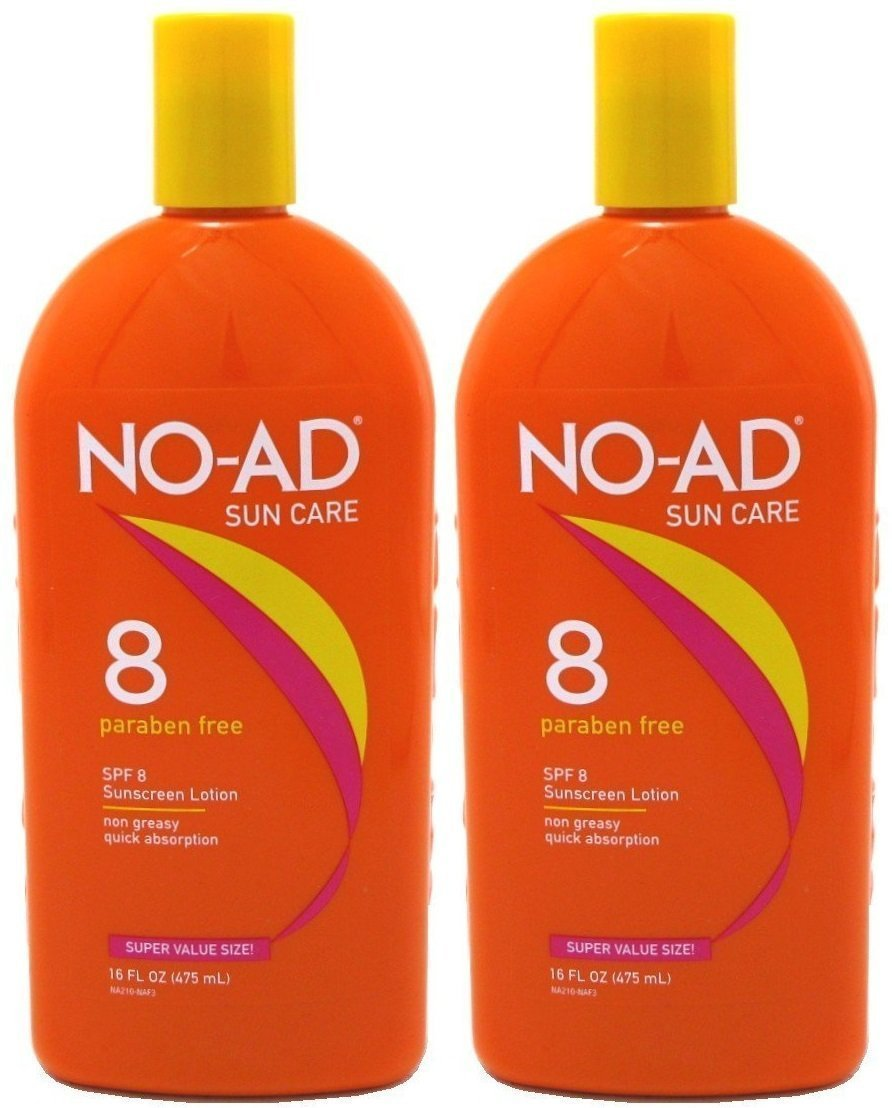 NO-AD Protective Tanning Lotion, SPF 8, 16 fl oz - 2pc by NO-AD