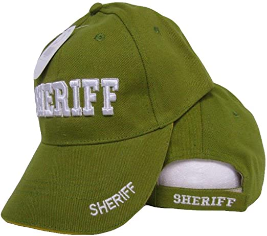 SHERIFF BASEBALL MILITARY CAP TEXT LETTERS NEW