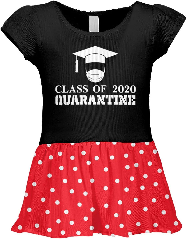 Tcombo Class of 2020 Quarantine Homeschool Graduate Infant//Toddler Baby Rib Dress