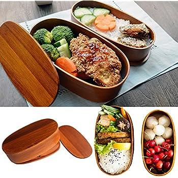 Amazon Miraclekoo Wooden Lunch Box Bento Box With Internal