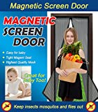 Magnetic Screen Door Heavy Duty Mesh Curtain and Full Frame Velcro Fits Door Size Up To 34''x83'' Max,Black