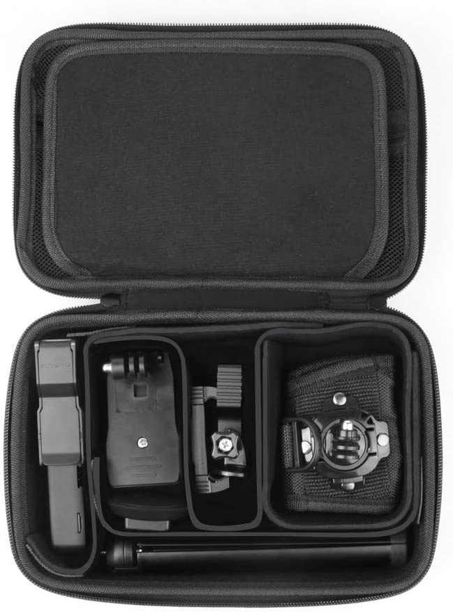 Sdoveb Portable HandHard Bag Storage Carrying Case Foam Compartments Shock-Proof for DJI OSMO Pocket Camera Black
