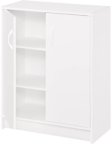 Cool White Storage Cabinets With Doors Style