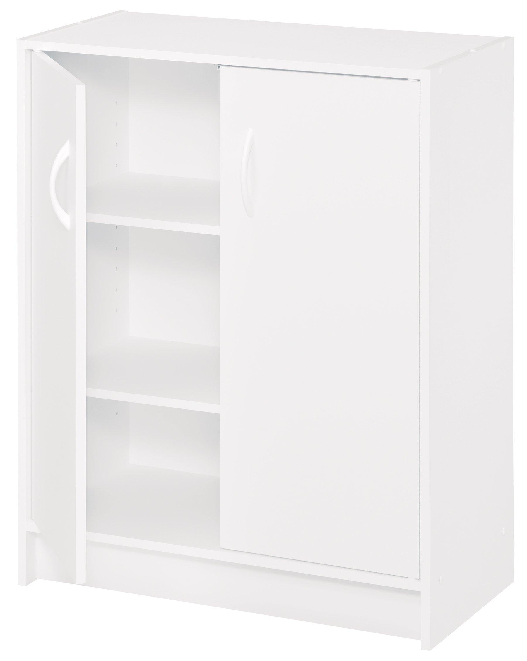 2 Door Storage Cabinet Kitchen Pantry Organizer Bathroom