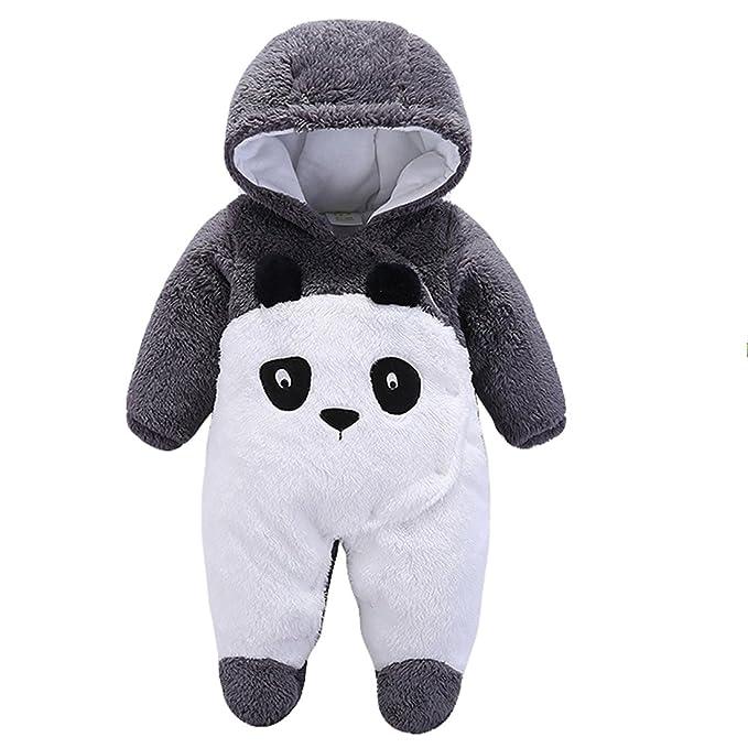 a094dc902ac1 Newborn Unisex Baby Plush Hooded Romper Animal Costume Winter ...