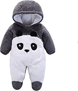 Newborn Baby Jumpsuit Outfit Hoody Coat Winter Infant Rompers Toddler Clothing Bodysuit Cartoon