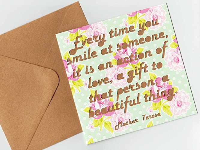 Amazon mother teresa quotation greeting card every time you mother teresa quotation greeting card every time you smile at someone it is an m4hsunfo