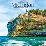 Michigan Wild & Scenic 2021 12 x 12 Inch Monthly Square Wall Calendar, USA United States of America Midwest State Wilderness