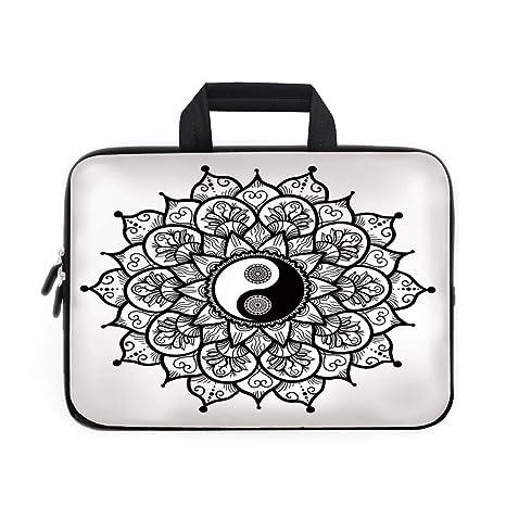 e1b34559987b Amazon.com: Ying Yang Laptop Carrying Bag Sleeve,Neoprene Sleeve ...