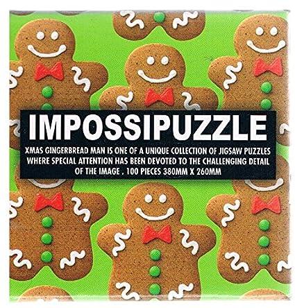 Amazon Com Impossipuzzle Xmas Gingerbread Man 100 Piece Toys