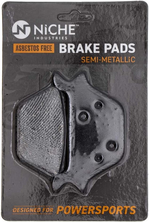 NICHE Brake Pad Set for Harley-Davidson Dyna Glide Heritage Softail Springer 44209-87D Rear Semi-Metallic