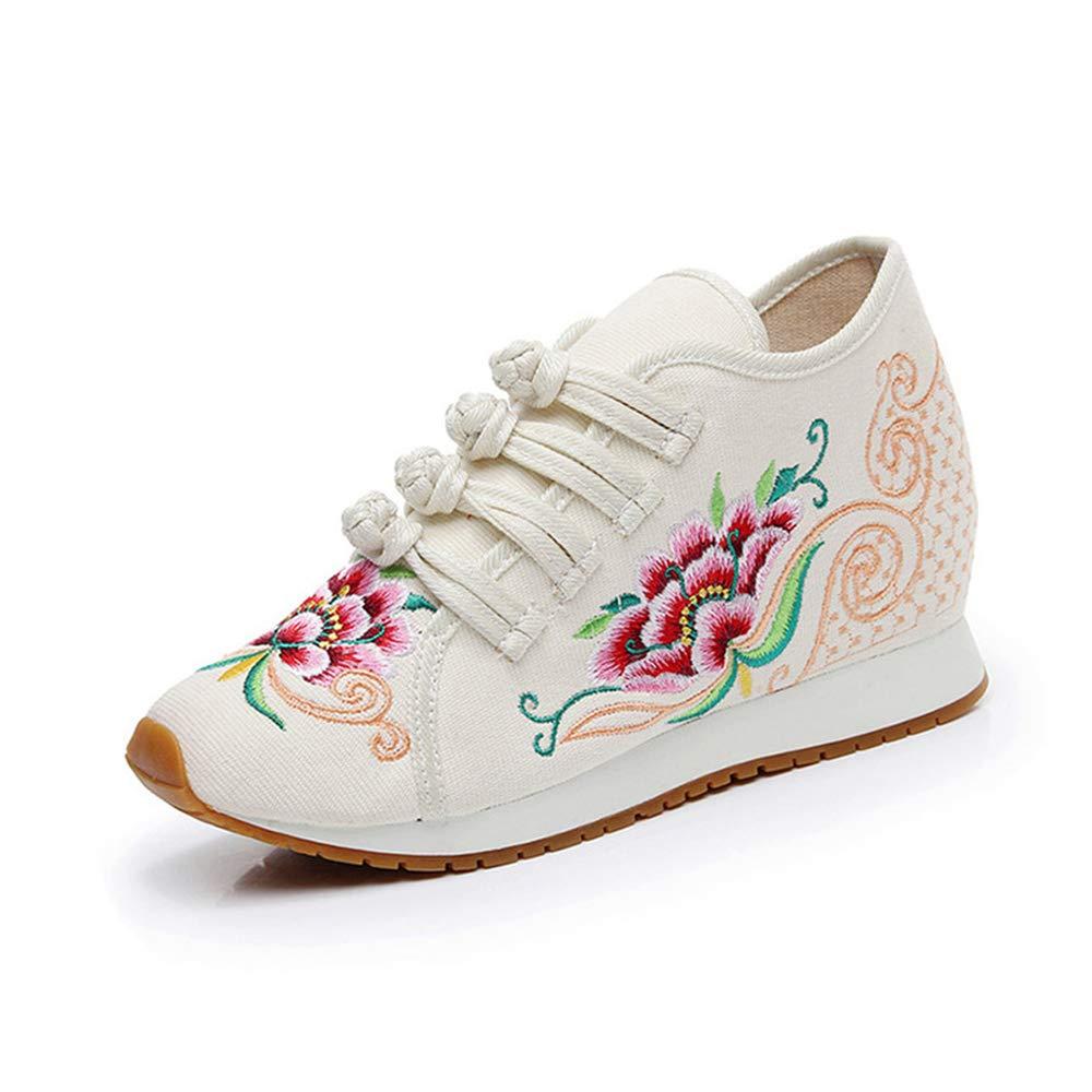 Chaussures 5424 de Broderie de Fleurs de de Chaussures Style Chinois Beige-shortplush 4054238 - boatplans.space