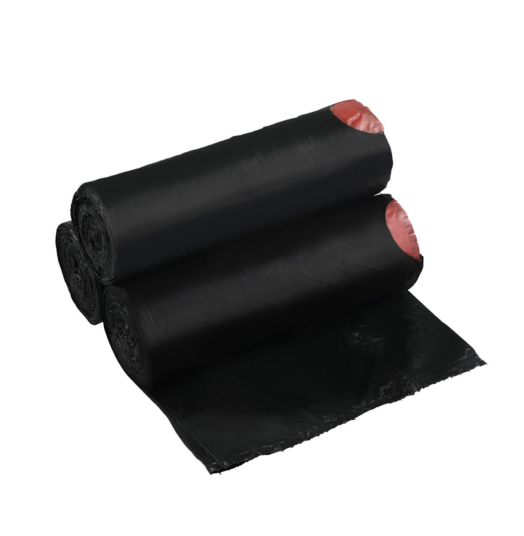 Begale 3 Gallon Drawstring Trash Bags, Black, 110 Counts/3 Rolls