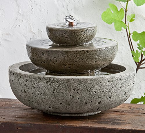 Campania International FT-161-AL M-Series Platia Fountain, Aged Limestone Finish