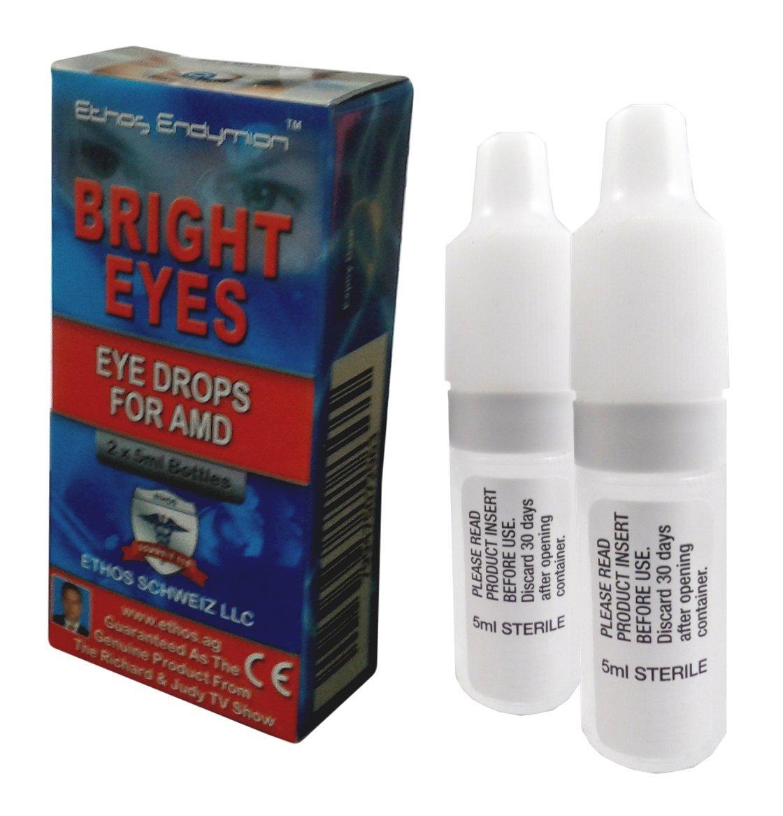 Ethos Bright EyesTM Carnosine NAC Eye Drops - 2 x 5ml Bottles - NAC Carnosine Eye Drops - NAC n Acetyl carnosine Eye Drops by Ethos
