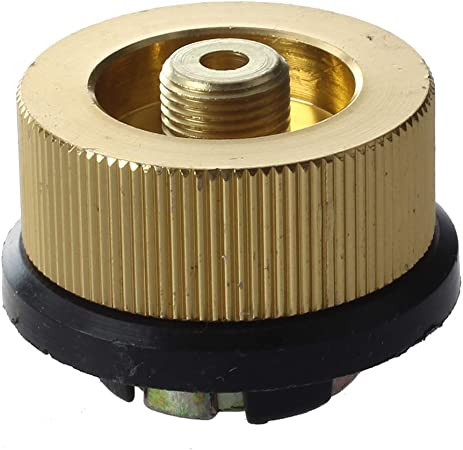 Cabeza de conversion - SODIAL(R)Cabeza de conversion de adaptador de conexion de estufa de gas de camping al aire libre largo soporte en tanque plana ...
