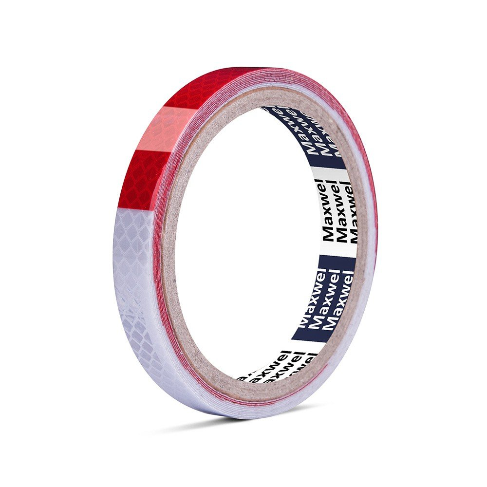 Reflective Tape Red White Rainproof 1 210' Heat Resistant Waterproof High Visibility Safety Reflective Warning Tape for Outdoor Night Running Safety Caution Warning Pack of 1 Piece